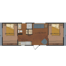 The Gold Nugget; 2 bedroom